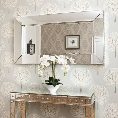 Deep Large All Glass Framed Wall Mirror
