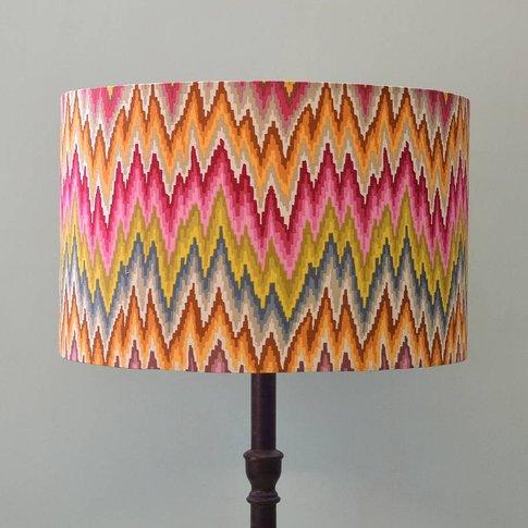 Handmade Flame Stripe Lampshade