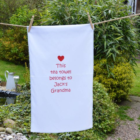 Personalised Grandma Tea Towel