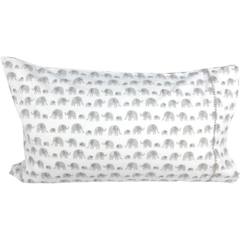 Grey Elephant Single Pillowcase