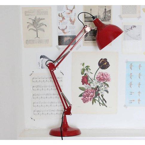 Crimson Angled Table Lamp