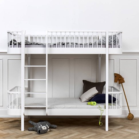 Scandinavian White Or Oak/White Bunk Bed, White