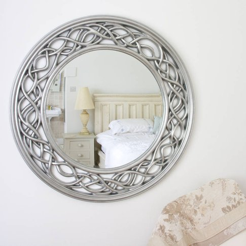 Twisted Elaborate Round Mirror