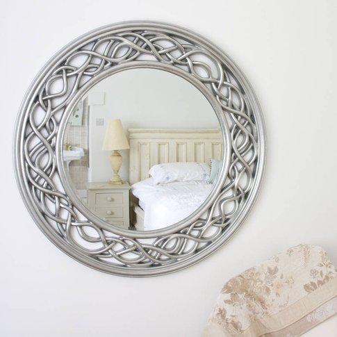 Twisted Elaborate Round Mirror