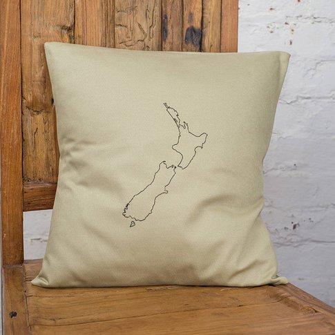 Personalised New Zealand Map Cushion Cover, Black/Na...