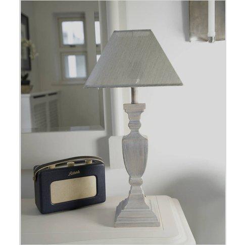 Squared Grey Wash Table Lamp