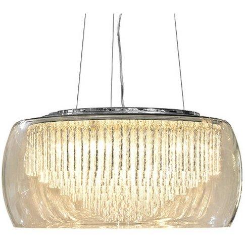Glass Shade Contemporary Chandelier Ceiling Light
