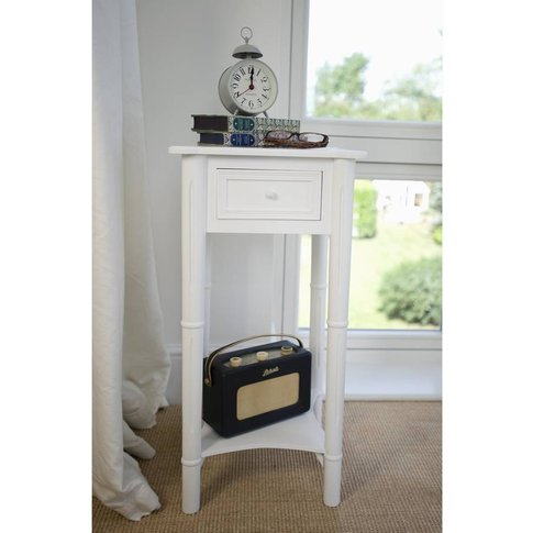 Traditional Bedside Table With Drawer