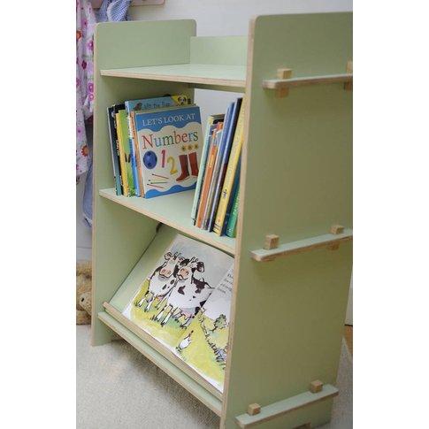 Bookcase, White/Lime/Light Blue