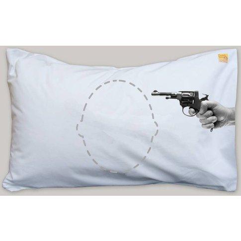 Personalised Funny Joke Gun Headcase Pillowcase