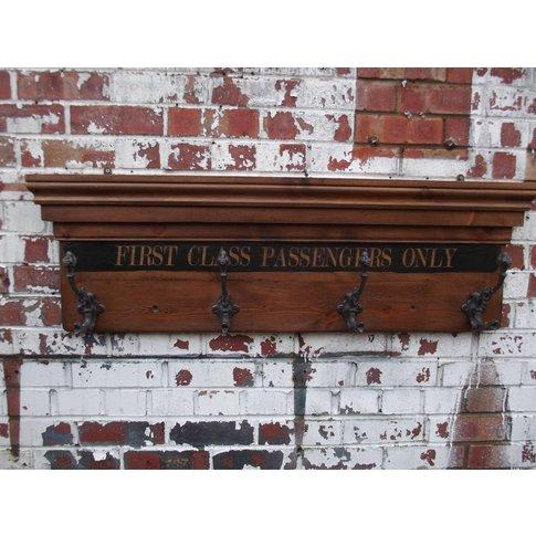 First Class Waiting Room Coat Hook Board