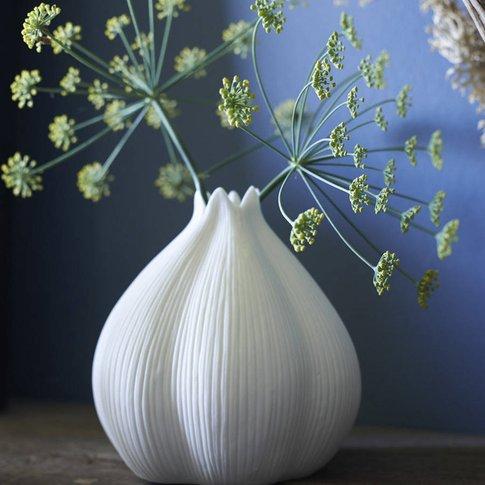 Porcelain Garlic Vase