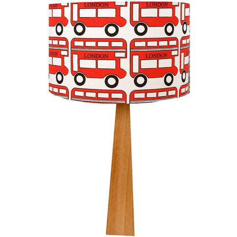 London Bus Wooden Table Lamp