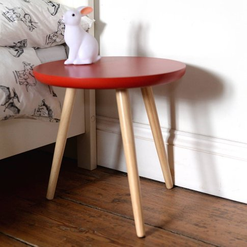 Colour Pop Side Table, Red/Blue