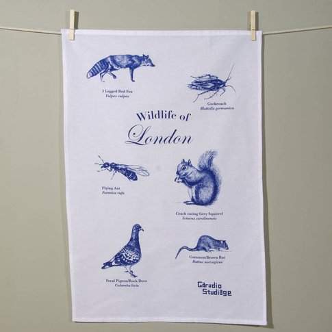Wildlife Of London Tea Towel