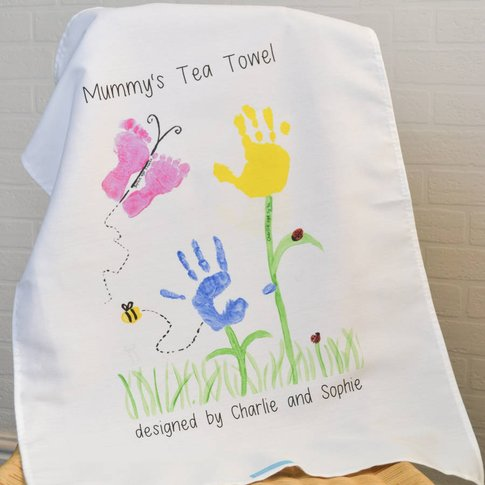Your Child's Artwork Personalised Tea Towel