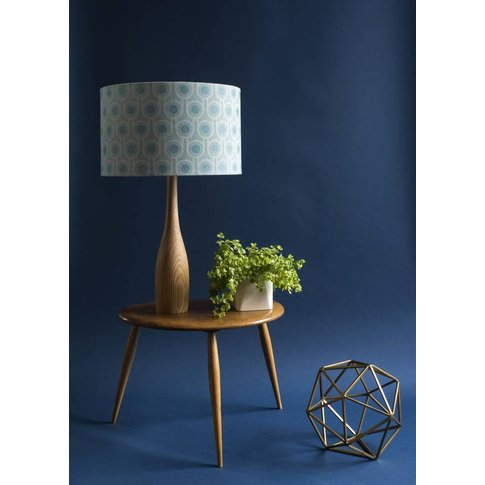 Woven Wool Benedict Blue Lampshade