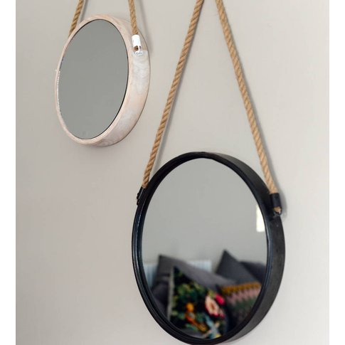 Port Mirror, White/Black