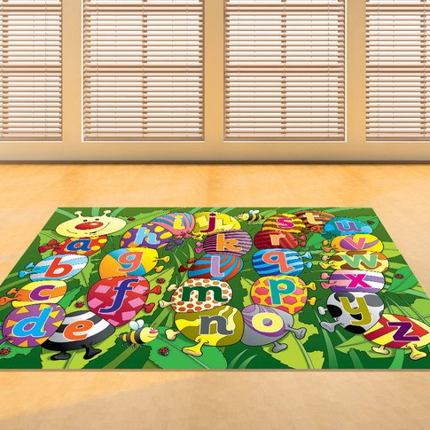 Child's Caterpillar Alphabet Floor Rug