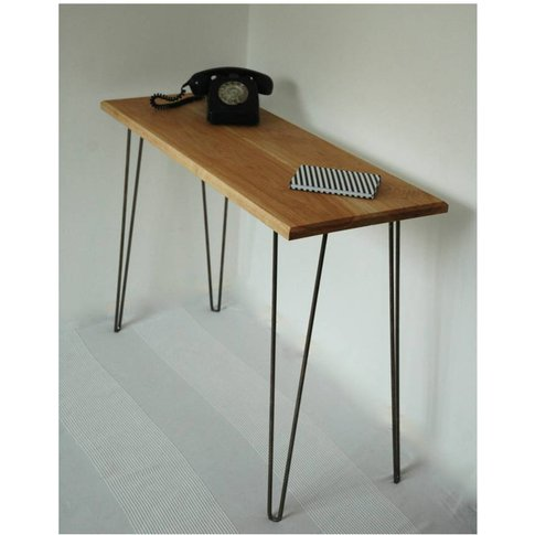 Margot Console Table Desk With Hairpin Legs, Black/R...