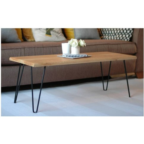 Jasper Coffee Table With Hairpin Legs, Black/Red/Yellow