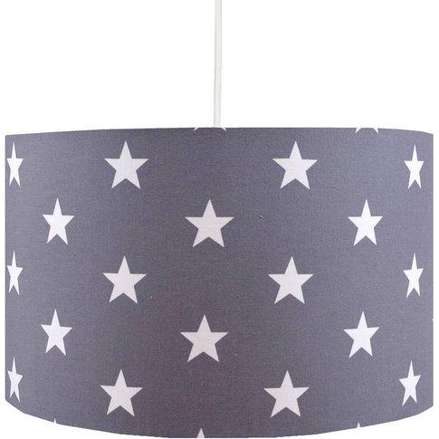 Handmade Grey Stars Lampshade