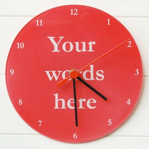 Your Words Clock, Plum/Sky Blue/Blue