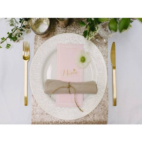 Champagne Wedding Table Runners