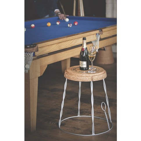Giant Champagne Cork Wire Cage Side Table, Gold/Silver