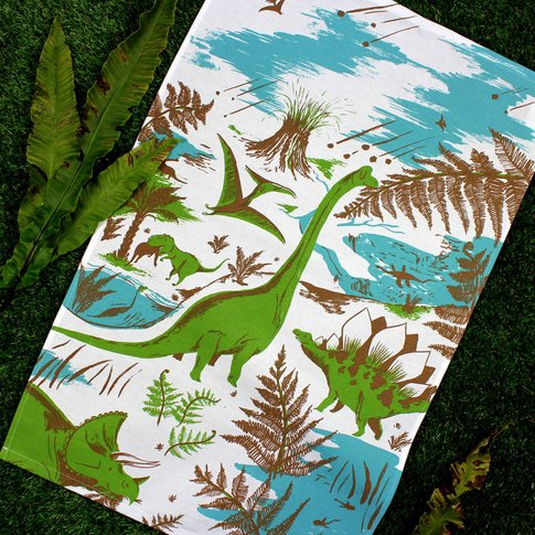 Dinosaur Tea Towel