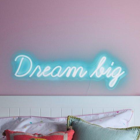 Dream Big Neon Sign Wall Light