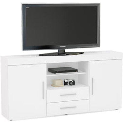 Birlea Edgeware 2 Door 2 Drawer Sideboard White