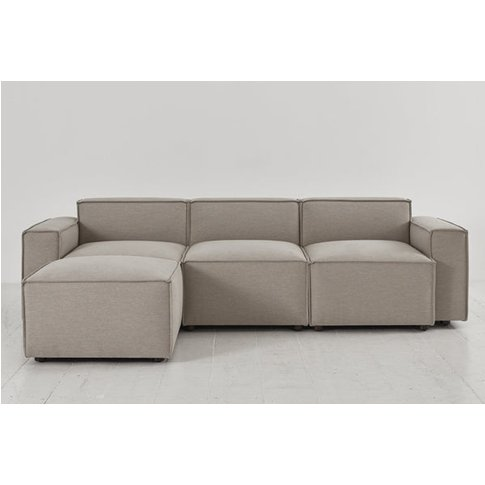 Swyft Model 03 3 Seater Sofa & Chaise - Pumice Linen