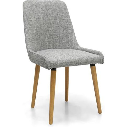 Shankar Capri Flax Effect Grey Weave Dining Chair (2pk)