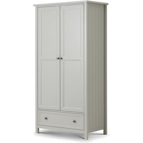 Julian Bowen Maine 2 Door Wardrobe / Dove Grey / Com...