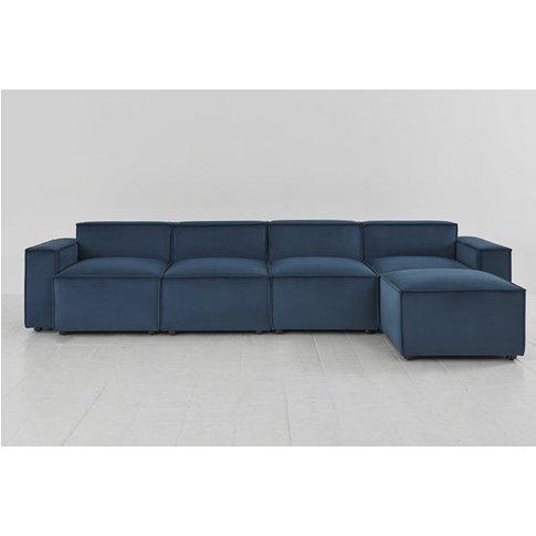 Swyft Model 03 4 Seater Sofa & Chaise - Velvet Teal