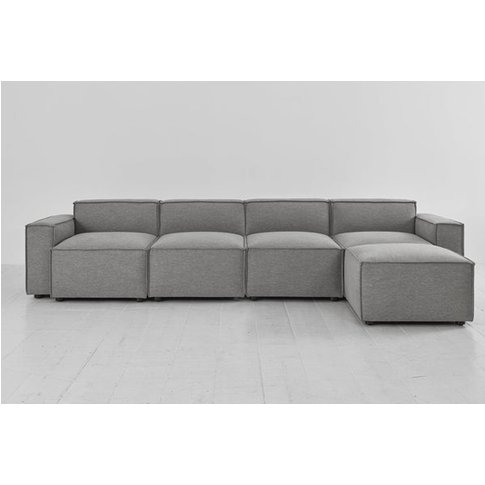 Swyft Model 03 4 Seater Sofa & Chaise - Shadow Linen