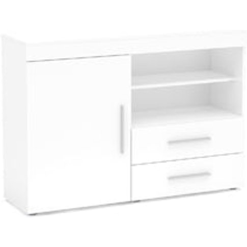 Birlea Edgeware 1 Door 2 Drawer Sideboard White