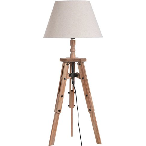 Hill Wooden Tripod Table Lamp