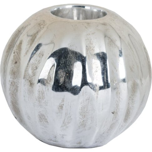 Hill Medium Spherical Detailed Metallic Ceramic Teal...