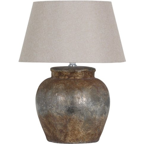 Hill Castello Aged Stone Ceramic Table Lamp