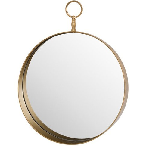 Hill Antique Bronze Circular Mirror With Decorative ...