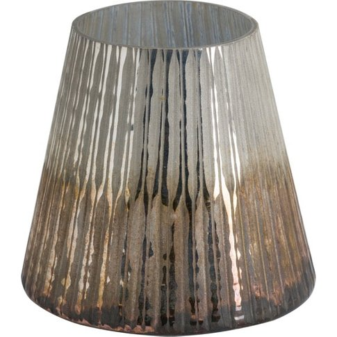 Hill Grey And Bronze Ombre Large Conical Candle Holder