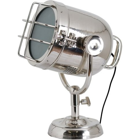 Hill Nickel Industrial Spotlight Table Lamp