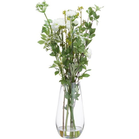 Hill Peony Arrangement In Glass Vase Large