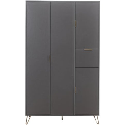 Birlea Arlo 4 Door Wardrobe Charcoal