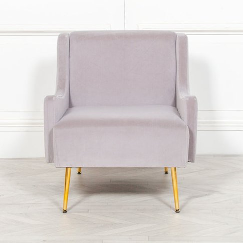 Maison Reproductions Velvet Sofa Chair / Grey