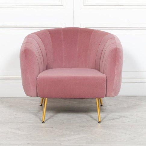 Maison Reproductions Velvet Armchair / Pink / Large