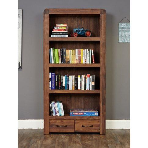 Baumhaus Shiro Walnut Large 2 Drawer Bookcase