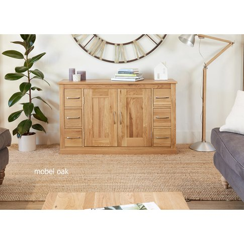 Baumhaus Mobel Oak Six Drawer Sideboard